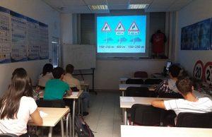 Učilnica v avtošoli AMTK